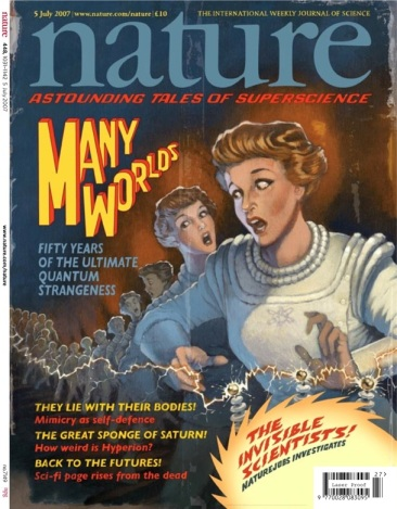 Nature's Many Worlds Retro Cartoon Cover