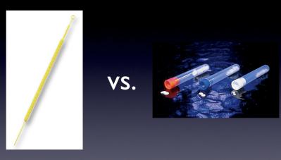 cloning disk vs. inoculation loop