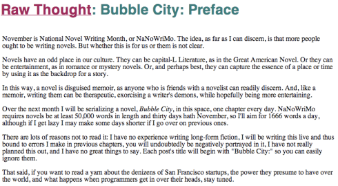 BubblePreface